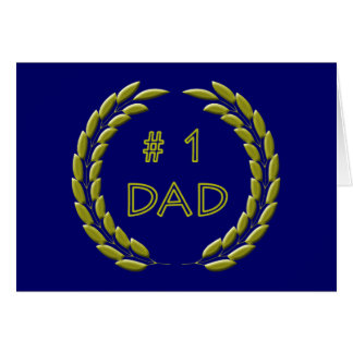 Golden Number 1 Dad Table Tent Card