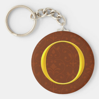 Golden O Monogram Key Chains