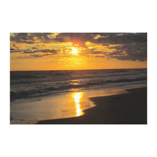 Golden Ocean Sunset Canvas Print