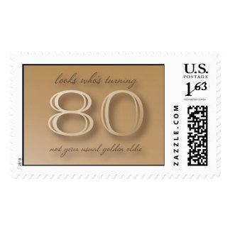 Golden Oldie 80th Birthday stamp