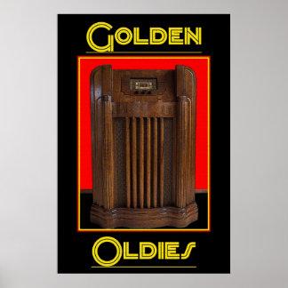 Golden Oldies Radio 36 x 24 Poster