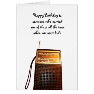 Golden Oldies Transistor Radio Birthday Card