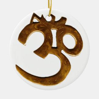 Golden Om Ceramic Ornament