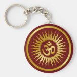 Golden Om Keychain