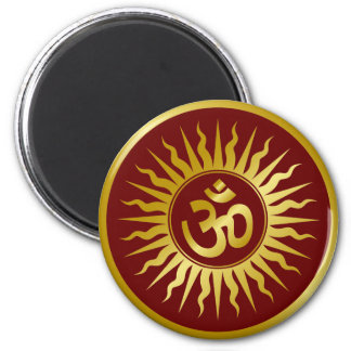 Golden Om Magnet