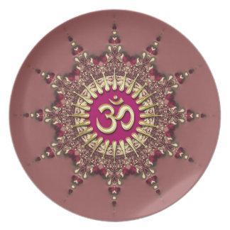 Golden Om on Earth Pinks Geo Star Custom Plate