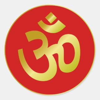 Golden Om Sign Sticker