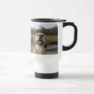 Golden on Great Lawn Travel Mug