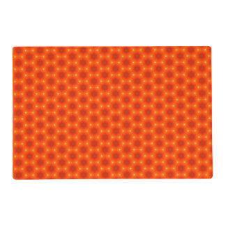 Golden Orange Honeycomb Hexagon Pattern Placemat