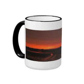 Golden Orange Sunset Landscape at Crecent Beach Fl Ringer Mug