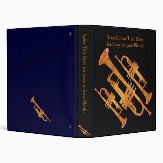 Golden Orange Trumpet Binders