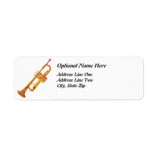 Golden Orange Trumpet Label
