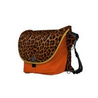golden orangy leopard rickshawmessengerbag