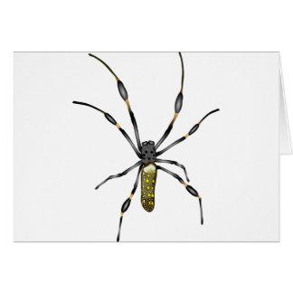 Golden Orb Spider Greeting Card