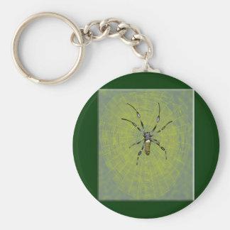 Golden Orb Spider Keychains
