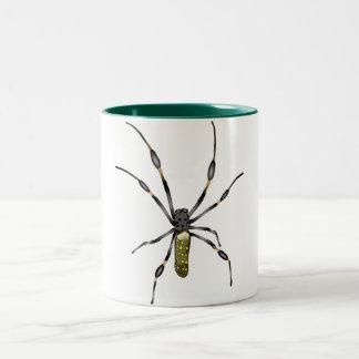 Golden Orb Spider Two-Tone Coffee Mug