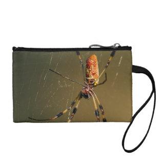 golden orb weaver spider change purse