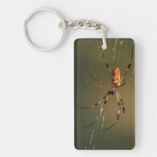 golden orb weaver spider keychain