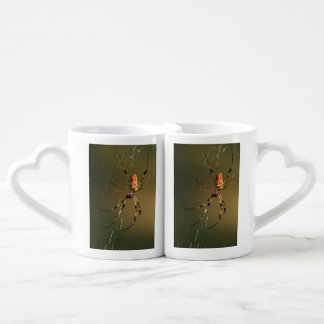 golden orb weaver spider couples' coffee mug set
