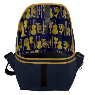 Golden Orchestra Interior Design Messenger Bag