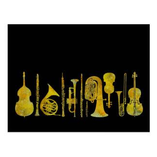 Golden Orchestra Postcard