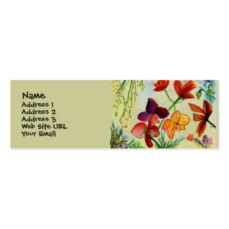 Golden Orchid Profile Card Double-Sided Mini Business Cards (Pack Of 20)