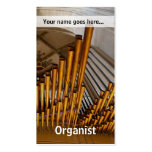 Golden organ pipes Double-Sided standard business cards (Pack of 100)