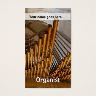 Golden organ pipes business card