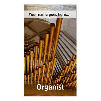 Golden organ pipes business card templates