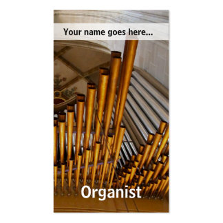 Golden organ pipes business card templates