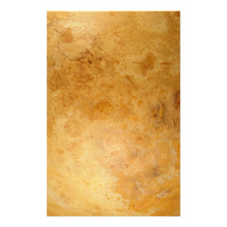 Golden Organic Marble Full Color Design Stationery
