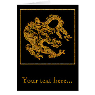 Golden oriental dragon 01 card