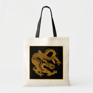 Golden oriental dragon 01 tote bag