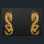 "Golden oriental dragon 02 cloth placemat<br><div class=""desc"">Original - by YANKAdesigns!</div>"