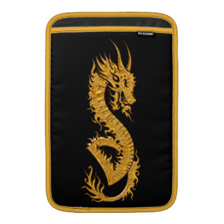 Golden oriental dragon 02 sleeve for MacBook air