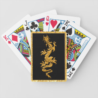 Golden oriental dragon 03 bicycle playing cards