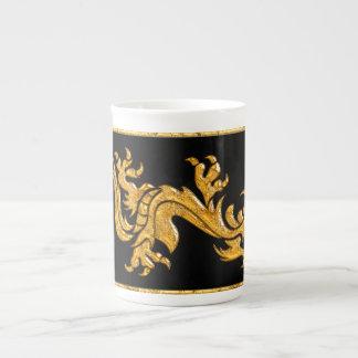 Golden oriental dragon 03 tea cup
