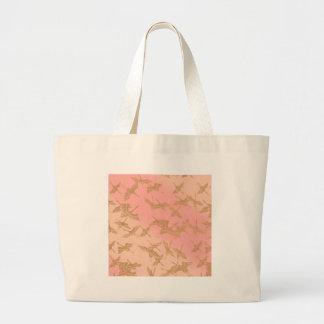 Golden Origami Crane Tote Bag