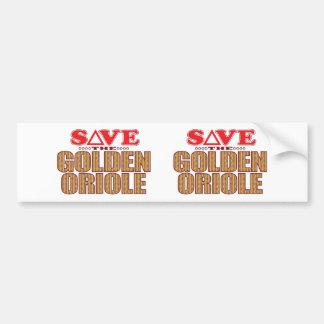 Golden Oriole Save Bumper Sticker