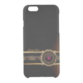 Golden Ornament Luxury  Purple Diamond Eye Name Uncommon Clearly™ Deflector iPhone 6 Case