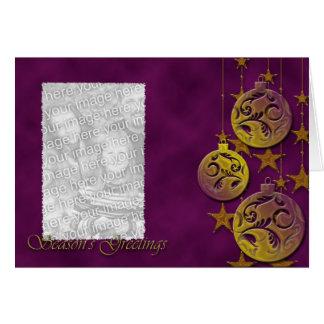 Golden Ornament Seasons Greetings Card