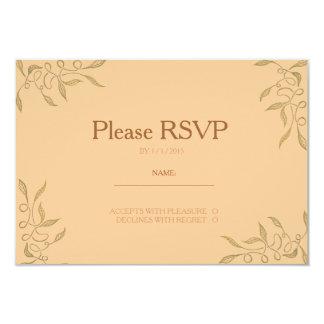 Golden Ornament Zentangle RSVP Card Custom Announcements