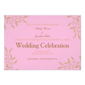 Golden Ornament Zentangle Wedding Invitation Card