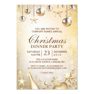 Corporate Christmas Party Invitations Announcements Zazzle