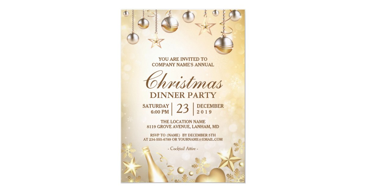 Sparkle Holiday Party Invitations & Announcements | Zazzle