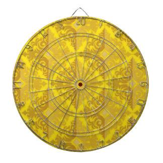 golden ornate diamond pattern dartboard