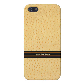 Golden Ostrich Leather iPhone SE/5/5s Cover