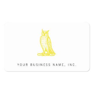 Golden Owl Crest Letterpress Style Business Cards