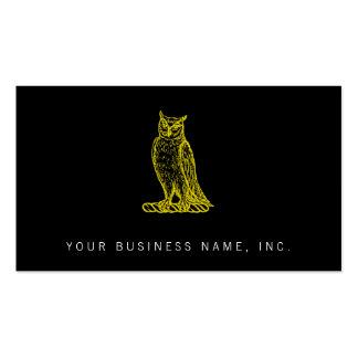 Golden Owl Crest Letterpress Style Business Card Template