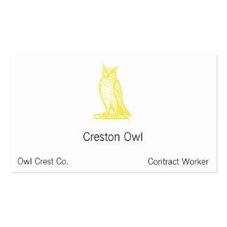 Golden Owl Crest Letterpress Style Business Card Templates